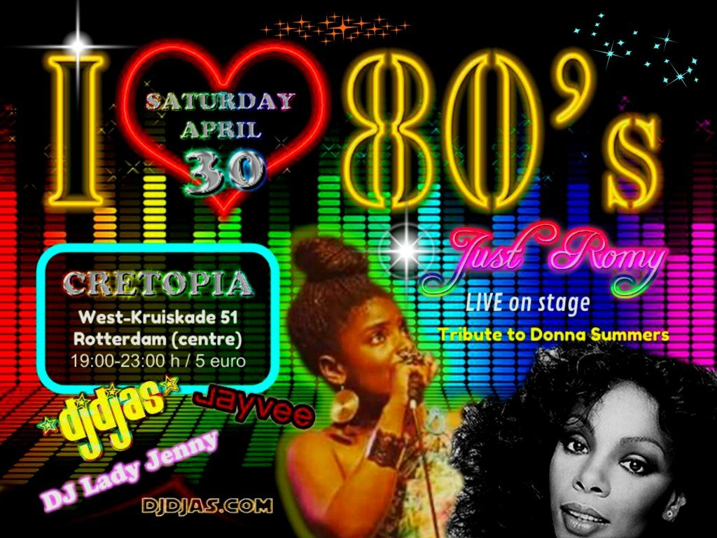 i LOVE THE 80'S 30 APRIL 2016